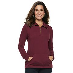 Women's Croft & Barrow® 1/4-Zip French Terry Sweatshirt