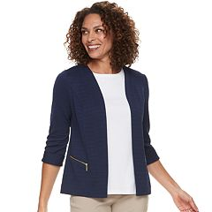 Women's Dana Buchman Textured Zipper-Pocket Jacket