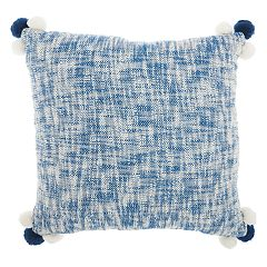 Mina Victory Trendy, Hip, & New Age Pom Pom Corner Throw Pillow