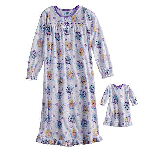 Disney's Frozen Elsa & Olaf Girls 4-8 Nightgown & Doll Nightgown