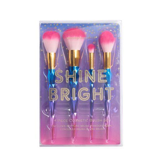 Simple Pleasures Shine Bright 4 Piece Cosmetic Brush Set