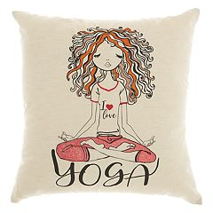Mina Victory Trendy, Hip, & New Age Curly Yoga Throw Pillow