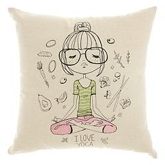 Mina Victory Trendy, Hip, & New Age Yoga Dreams Throw Pillow
