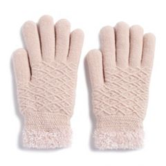 Women's SONOMA Goods for Life™ Diamond-Knit Cozy Gloves