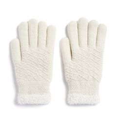 Women's SONOMA Goods for Life™ Diamond-Knit Cozy Gloves