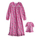Girls 4-10 Hello Kitty® Nightgown & Matching Doll Gown