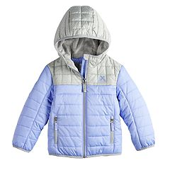 Toddler Girl ZeroXposur Midweight Hooded Colorblock Quilted Jacket