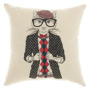 Mina Victory Trendy, Hip, & New Age Trendy Cat Throw Pillow