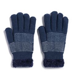 Women's SONOMA Goods for Life™ Dotted Colorblock Cozy Gloves