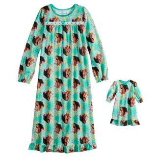 Disney's Moana Girls 4-10 Nightgown & Doll Nightgown Set
