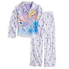 Disney's Frozen Elsa & Olaf Girls 4-8 Top & Bottoms Pajama Set