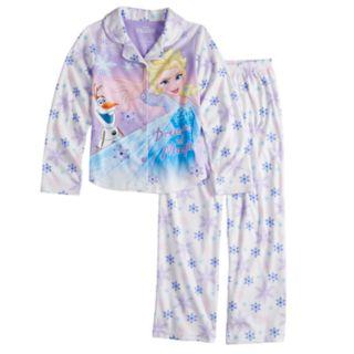 Disney's Frozen Elsa & Olaf Girls 4-8 Top & Bottoms Pajama Set