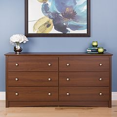 Prepac 6-Drawer Long Dresser