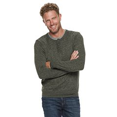 Men's SONOMA Goods for Life™ Modern-Fit Supersoft Henley Sweater
