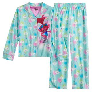Girls 4-8 DreamWorks Trolls Poppy Top & Bottoms Flannel Pajama Set