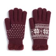 Women's SONOMA Goods for Life? Snowflake Cozy Gloves