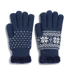 Women's SONOMA Goods for Life™ Snowflake Cozy Gloves