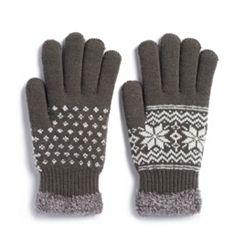 Women's SONOMA Goods for Life™ Snowflake Cozy Gloves
