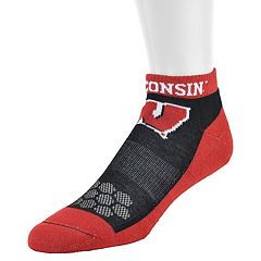Men's Mojo Wisconsin Badgers Excalibur Low-Cut Socks