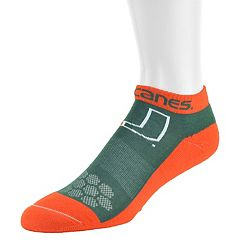 Women's Mojo Miami Hurricanes Excalibur Low-Cut Socks