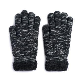 Women's SONOMA Goods for Life? Marled Diamond-Knit Cozy Gloves