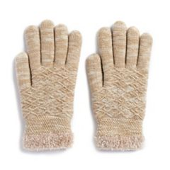 Women's SONOMA Goods for Life™ Marled Diamond-Knit Cozy Gloves