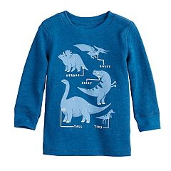 Baby Boy Jumping Beans® Dinosaurs Thermal Graphic Tee
