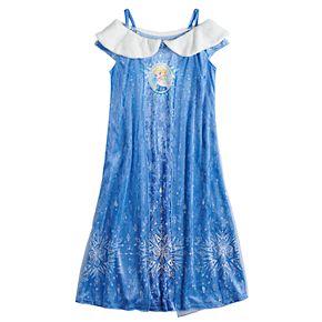 Disney's Frozen Elsa Girls 4-8 Fantasy Gown Crushed Velvet Nightgown