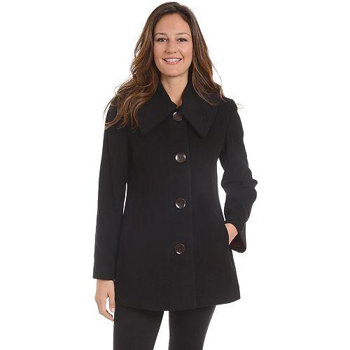 Women's Fleet Street Single-Breasted Wool Blend Coat