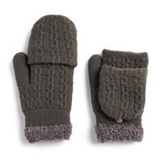 Women's SONOMA Goods for Life™ Cable-Knit Flip-Top Mittens