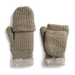 Women's SONOMA Goods for Life™ Confetti Cable-Knit Flip-Top Mittens