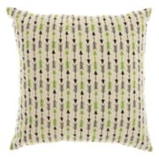Mina Victory Trendy, Hip, & New Age Embroidered Arrow Throw Pillow