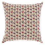 Mina Victory Trendy, Hip, & New Age Embroidered Leaves Throw Pillow