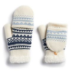 Women's SONOMA Goods for Life™ Fairisle Knit Flip-Top Mittens
