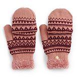 Women's SONOMA Goods for Life? Fairisle Knit Flip-Top Mittens