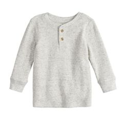 Toddler Boy Jumping Beans® Textured Thermal Henley Top