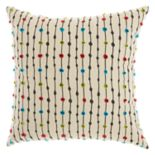 Mina Victory Trendy, Hip, & New Age Embroidered Dots Throw Pillow