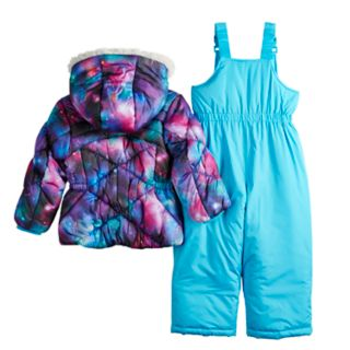 Toddler Girl ZeroXposur Stella Galaxy Print Jacket & Bib Snowpants Set