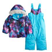Toddler Girl ZeroXposur Stella Galaxy Print Jacket & Bib Snowpants Set