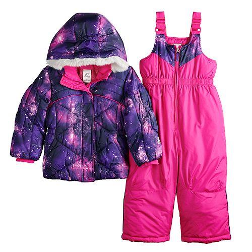 0c5a956c1 Toddler Girl ZeroXposur Stella Galaxy Print Jacket & Bib Snowpants Set
