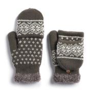 Women's SONOMA Goods for Life? Snowflake Knit Flip-Top Mittens