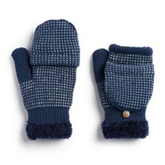 Women's SONOMA Goods for Life™ Dotted Colorblock Flip-Top Mittens