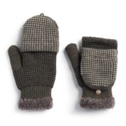 Women's SONOMA Goods for Life? Dotted Colorblock Flip-Top Mittens