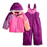 Toddler Girl ZeroXposur Kasha Jacket & Bib Snowpants Set