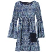 Girls 7-16 & Plus Size Speechless Smocked Bell Sleeve Dress