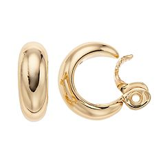 Napier Small Hoop Clip-On Earrings