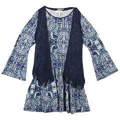 Girls 7-16 & Plus Size Speechless Vest & Bell Sleeve Dress