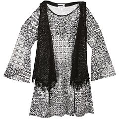 Girls 7-16 & Plus Size Speechless Vest & Bell Sleeve Dress
