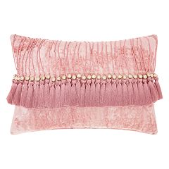 Mina Victory Life Styles Velvet Tassels II Oblong Throw Pillow