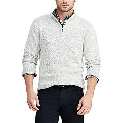Big & Tall Chaps Classic-Fit Quarter-Zip Mockneck Sweater